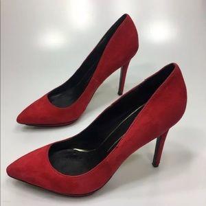 DOLCE VITA Red Suede High Heels 10